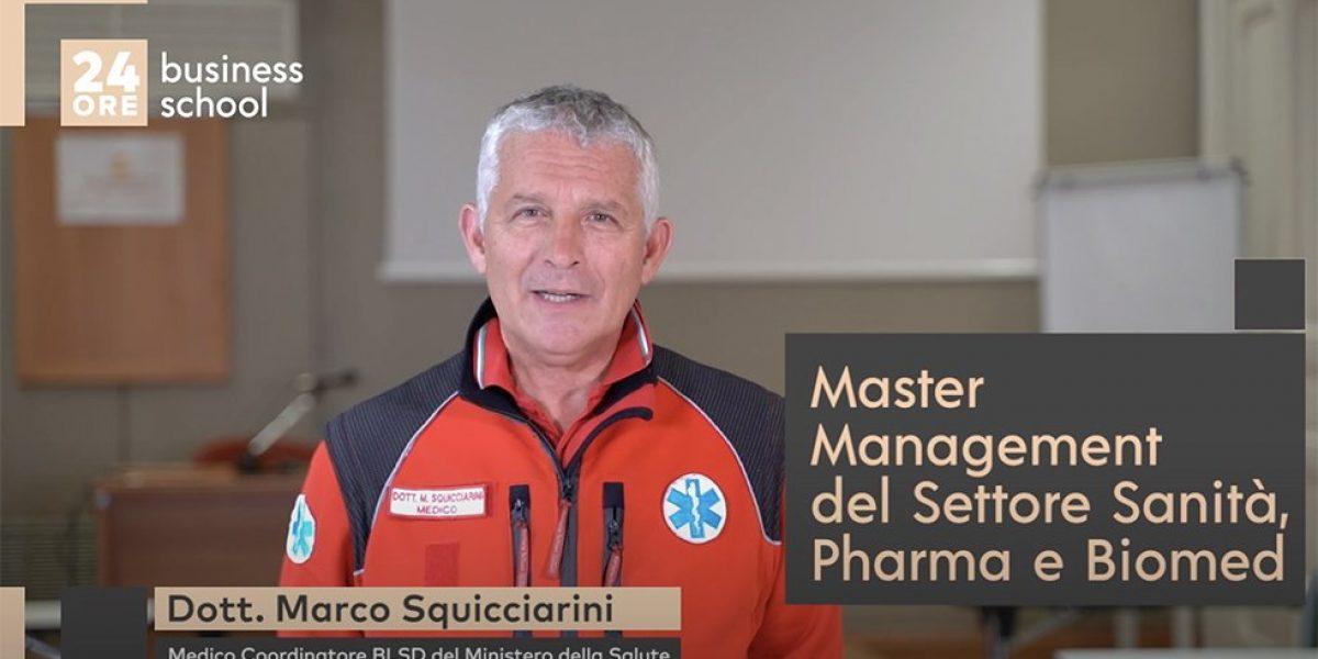 Dr. Squicciarini e Primo Soccorso Aziendale con BLSD nel Master