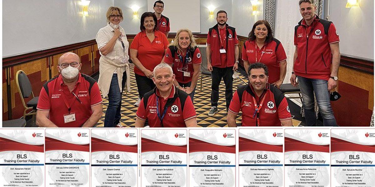 Formati nuovi Faculty BLSD Aha dell'ITC Squicciarini Rescue